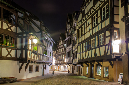 Alsatian style houses in Petite France area of Strasbourg photo