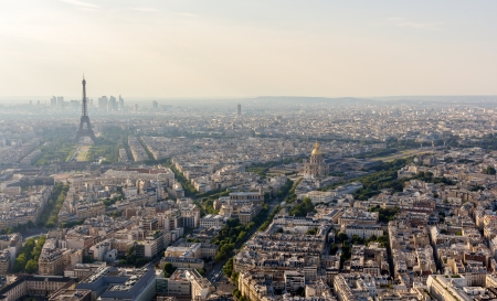 Panorama of Paris from Maine-Montparnasse Tower - France photo