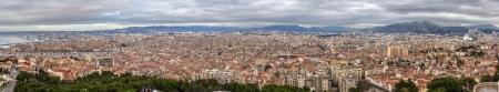 monte cristo: Panorama of Marseille from Notre-Dame de la Garde Stock Photo