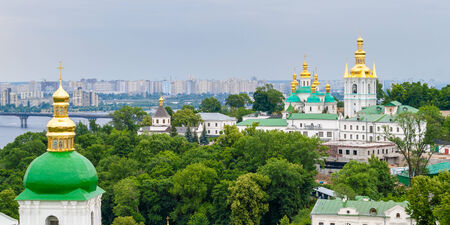 View of Kiev Pechersk Lavra, the orthodox monastery included in UNESCO world heritage list  Ukraine