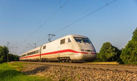 Intercity-Express-Zug in Offenburg, Deutschland Lizenzfreie Bilder