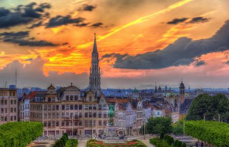 Vue sur le centre-ville de Bruxelles Banque d'images - 29743180