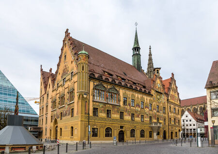 rathaus: Ulm town hall (Rathaus) - Germany, Baden-Wurttemberg Editorial