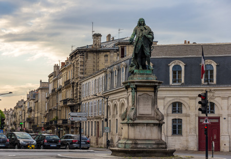 famous industries: Monument of Louis-Urbain-Aubert de Tourny in Bordeaux, France