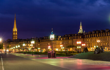 View of Bordeaux in the evening - France, Aquitaine photo