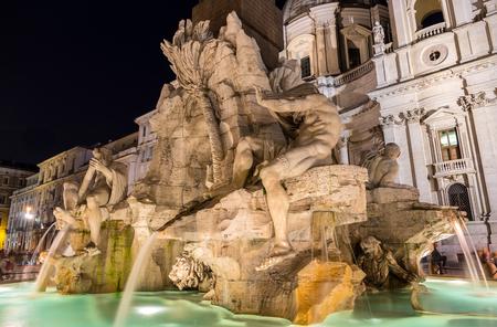 Fontana dei Quattro Fiumi in Rome, Italy photo