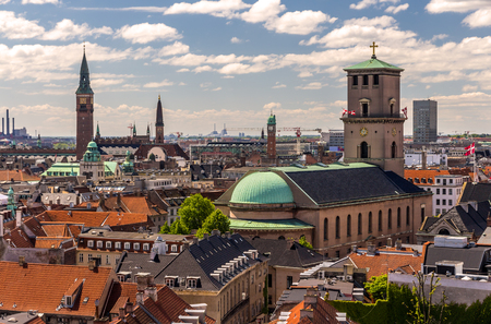 View of Copenhagen from The Round Tower photo