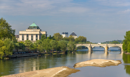 wilson: Pont Wilson in Tours - France, Region Centre Stock Photo