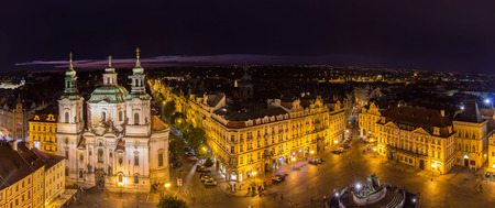 old towns: View of Old Towns Square in Prague Stock Photo