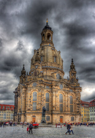 Martin Luther Monument and Frauenkirche in Dresden, Germany photo