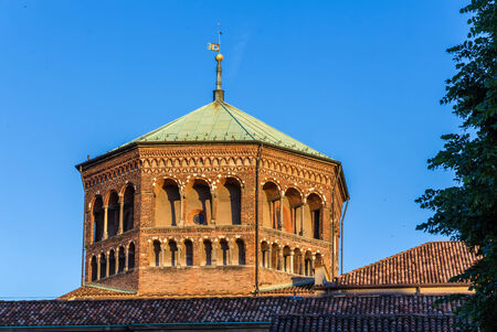 Cupola of Basilica di SantAmbrogio in Milan Stock Photo