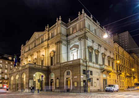 La Scala, egy operaház Milánó, Olaszország Stock fotó - 29741426