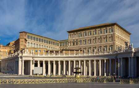 apostolic: View of Apostolic Palace from Saint Peters Square in Vatican
