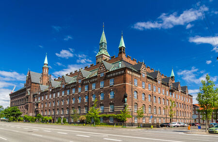 View of Copenhagen city hall, Denmark 写真素材