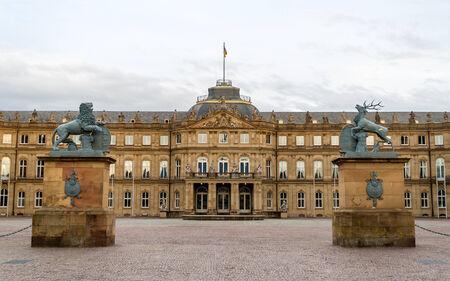 neues: Neues Schloss  New Castle  in Stuttgart, Germany Editorial