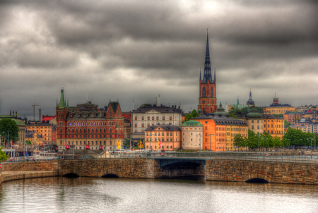 sity: View of Stockholm sity center, Sweden
