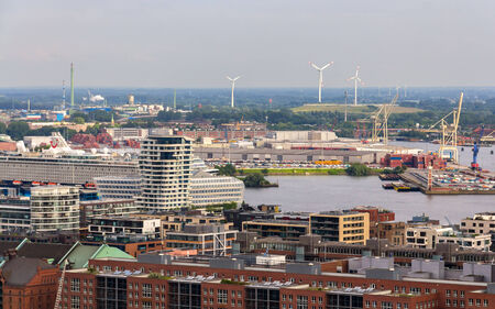 Aerial view of Hamburg, Germany photo
