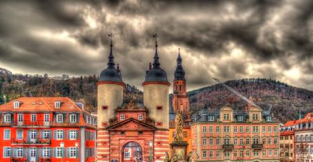 Entrance to Heidelberg from Karl Theodor Bridge - Germany photo