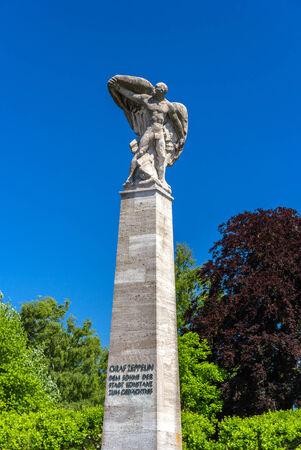 graf: Graf Zeppelin Statue in Konstanz, Germany Editorial