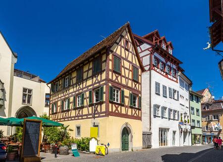 fachwerk: Fachwerk houses in the city center of Konstanz, Germany