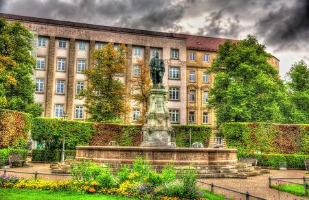 bayern old town: Monument to Luitpold von Bayern in Augsburg, Germany Editorial