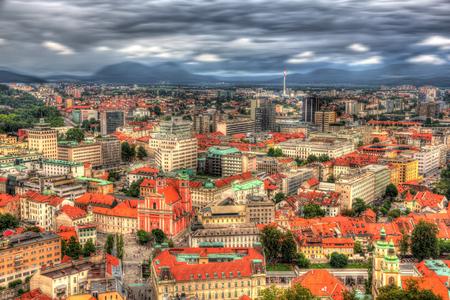 View of Ljubljana from the castle - Slovenia photo