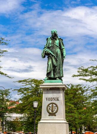valentin: Monument to Valentin Vodnik in Ljubljana - Slovenia Editorial