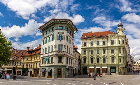 Hauptmanns House on Preseren Square in Ljubljana, Slovenia