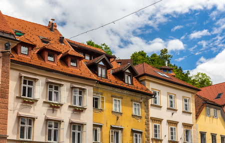 Buildings In Historic Centre Of Ljubljana, Slovenia Stock Photo   33429680