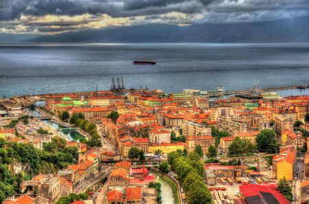 Aerial view of Rijeka, Croatia photo
