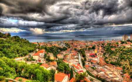View of Adriatic Sea in Rijeka, Croatia photo