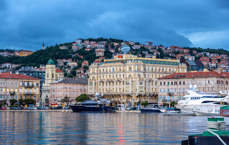 View of Rijeka city in Croatia