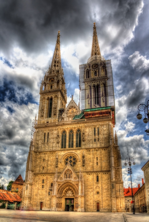 Zagreb Cathedral on Kaptol - Croatia photo