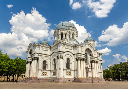 kaunas: St. Michael the Archangel church in Kaunas, Lithuania Stock Photo