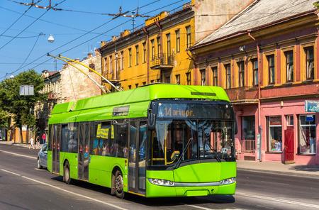 kaunas: Trolleybus in Kaunas - Lithuania Editorial