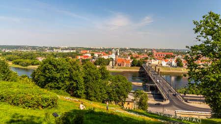 kaunas: Summer view of Kaunas - Lithuania Stock Photo