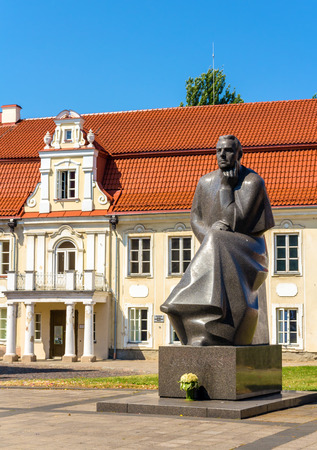 kaunas: Monument to Maironis in Kaunas, Lithuania Editorial