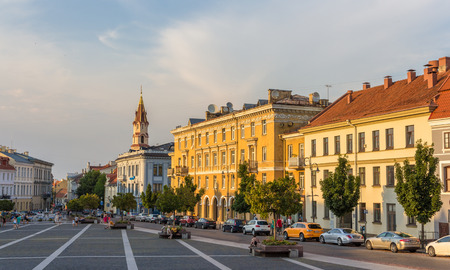 town hall square: View of Town Hall square in Vilnius, Lithuania