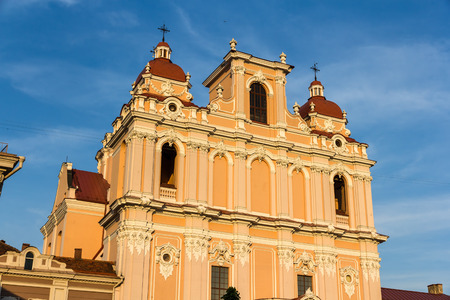 casimir: Details of St. Casimir church in Vilnius, Lithuania Stock Photo