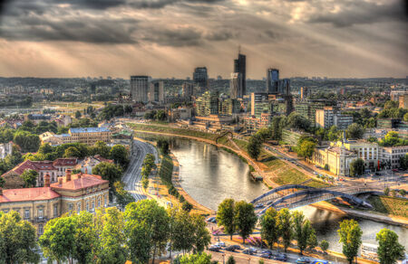 Vilnius as seen from the castle, Lithuania photo