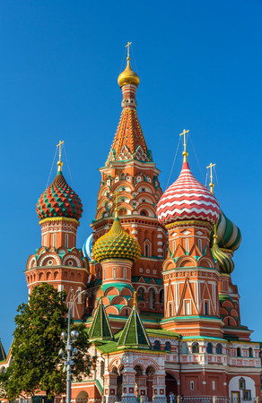 Saint Basils Cathedral in Red Square - Moscow photo