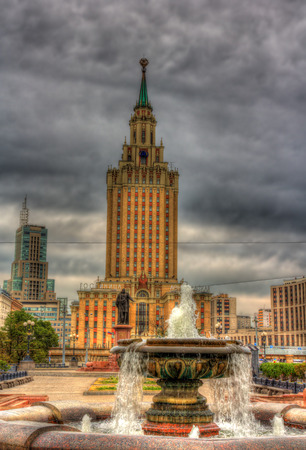 leningradskaya: View of Hotel Leningradskaya, a Stalins skyscraper in Moscow