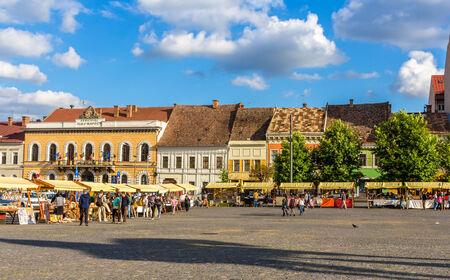 Piata Unirii (Union Square) in Cluj-Napoca, Romania