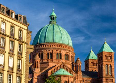jeune: Saint-Pierre-le-Jeune church in Strasbourg - Alsace, France