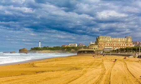plage: Grande Plage, a beach in Biarritz, France