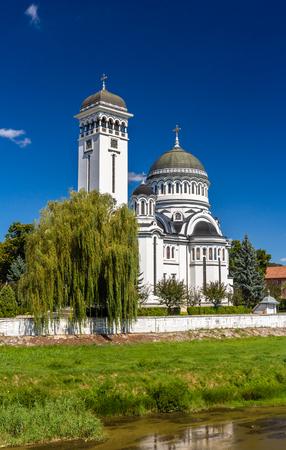Catedral de la Santa Trinidad ortodoxa en Sighisoara, Rumanía Foto de archivo