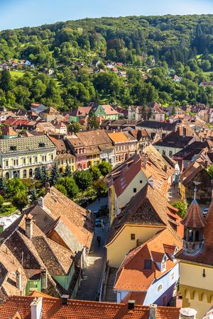 saxon: View of Sighisoara - Transylvania, Romania