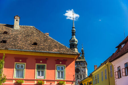 Buildings in Sighisoara - Transylvania, Romania