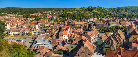 Panorama of Sighisoara town in Romania, Transylvania photo