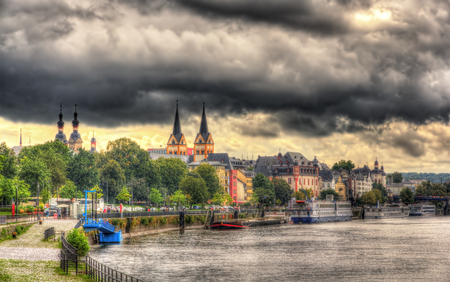 rhein: View of Koblenzs embankment - Germany